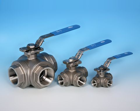 stainless steel 3-Way BSP Screwed Direct Mount Ball Valve